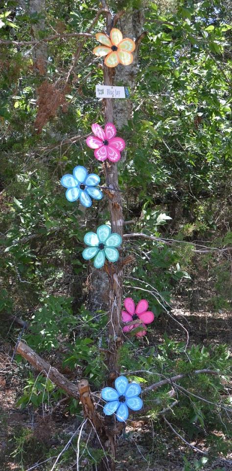 Fun trail markers